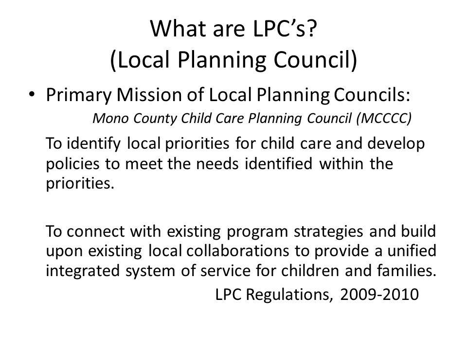 What are LPC's.