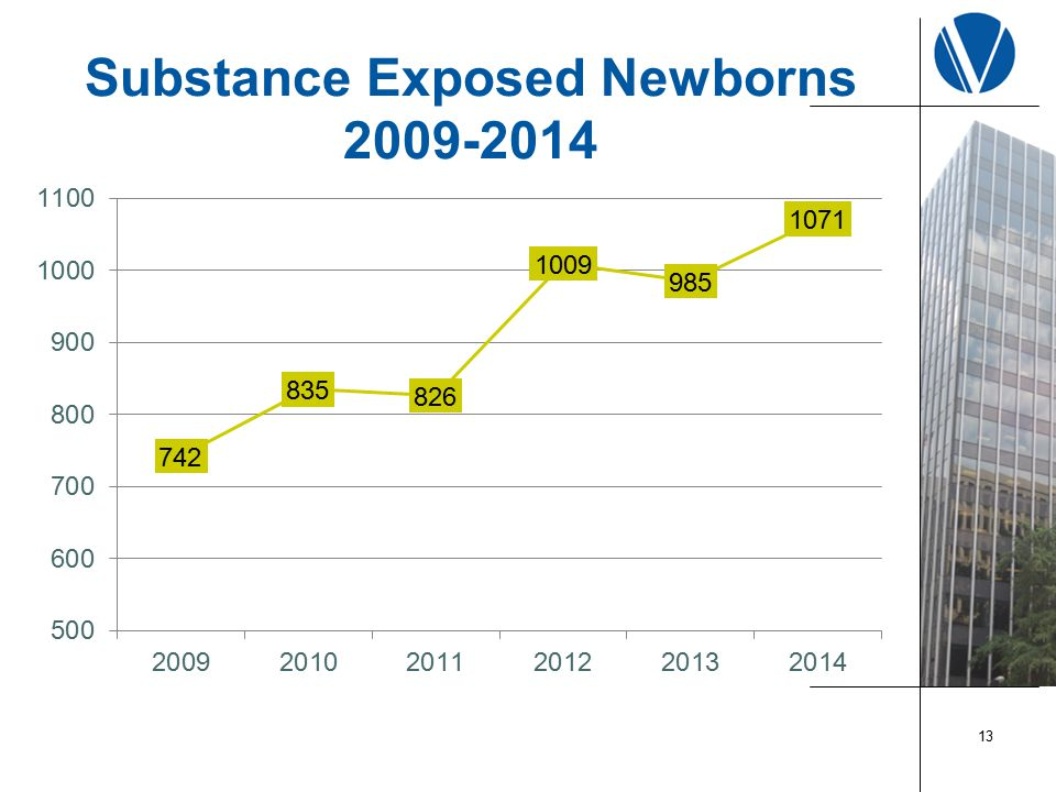 Substance Exposed Newborns 2009-2014 13