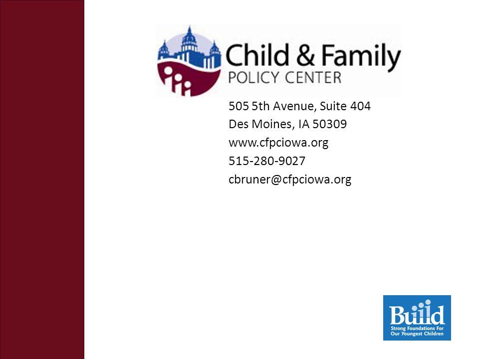 505 5th Avenue, Suite 404 Des Moines, IA 50309 www.cfpciowa.org 515-280-9027 cbruner@cfpciowa.org