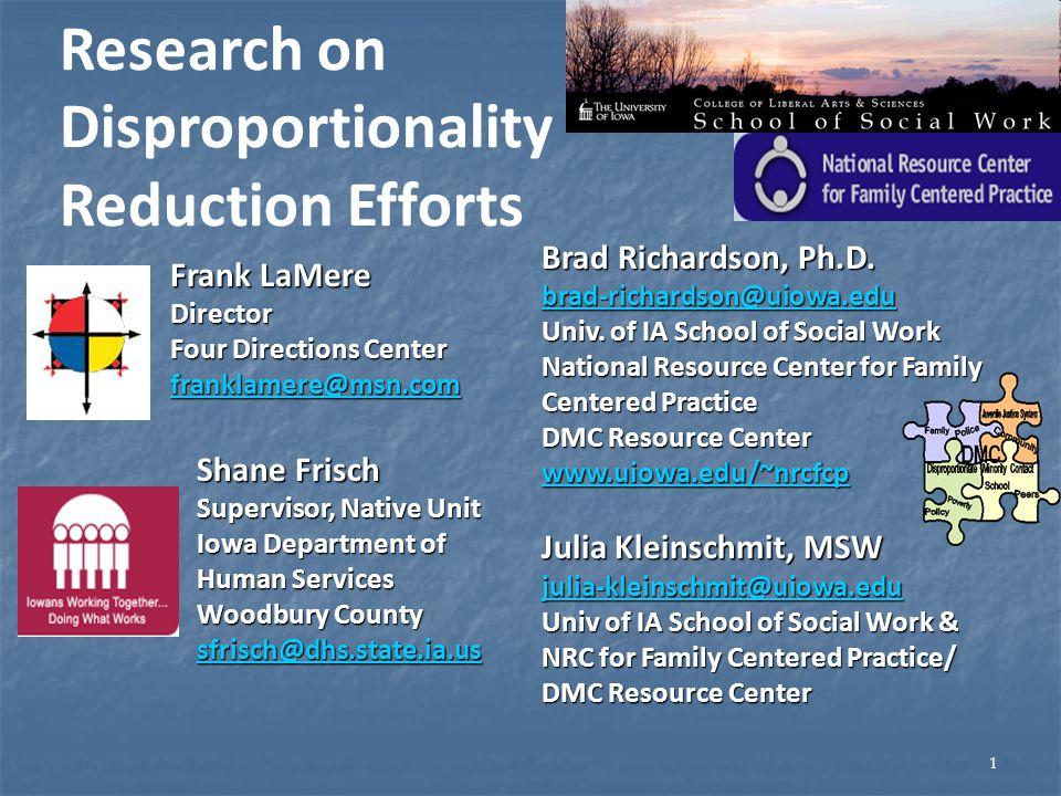 1 Brad Richardson, Ph.D. brad-richardson@uiowa.edu Univ.