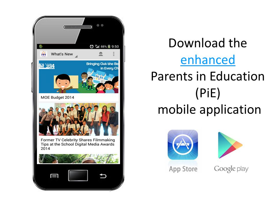 Download the enhanced Parents in Education (PiE) mobile application