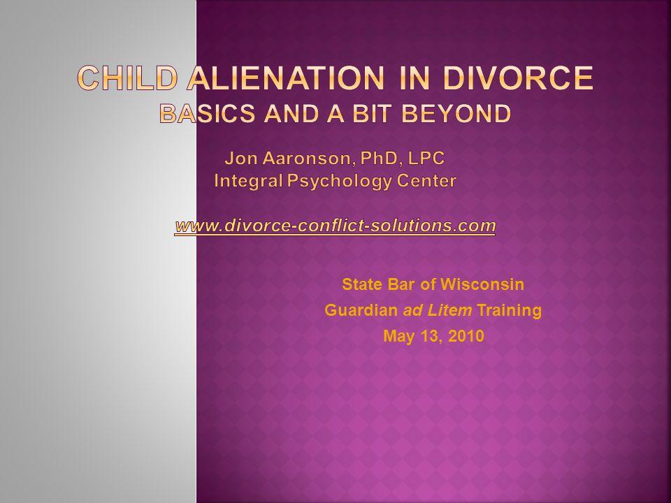  Child  Alienating (Preferred, Aligned) Parent (AP)  Rejected (Target) Parent (RP) J.