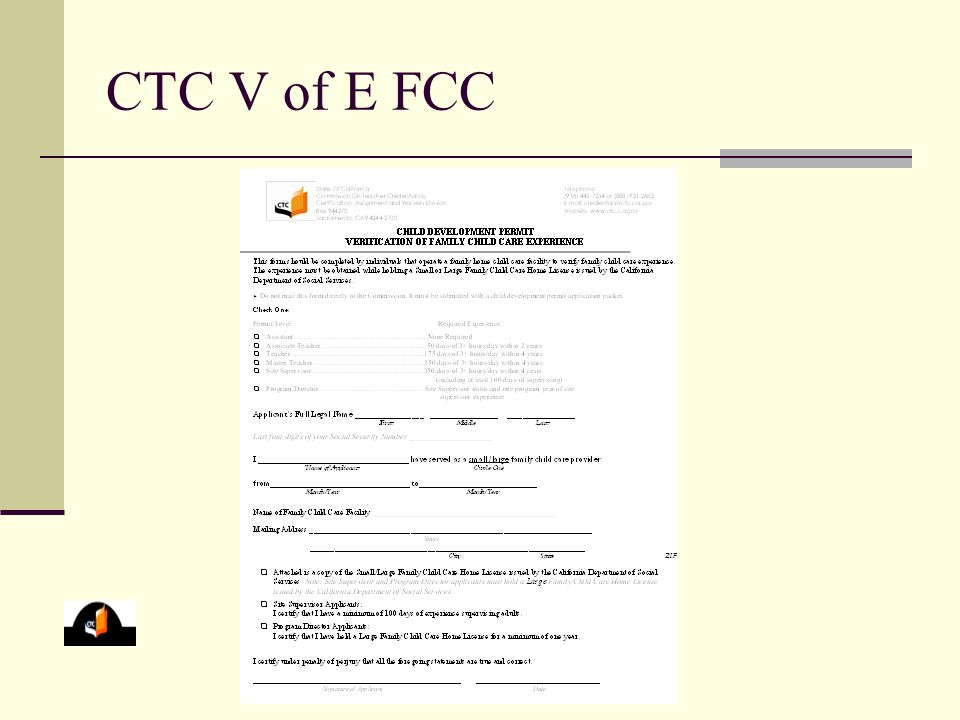 CTC V of E FCC