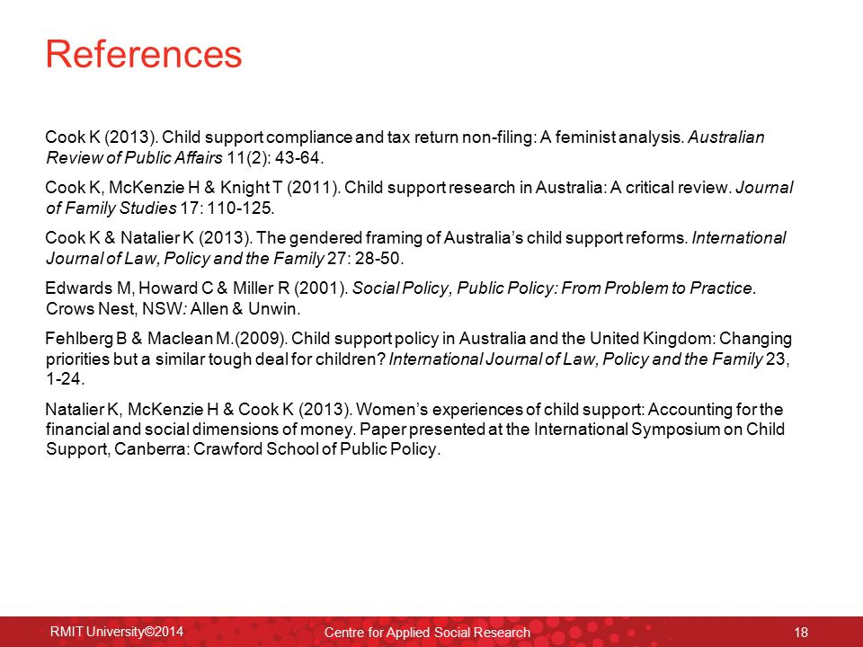 Other key sources Australian Law Reform Commission (2011).