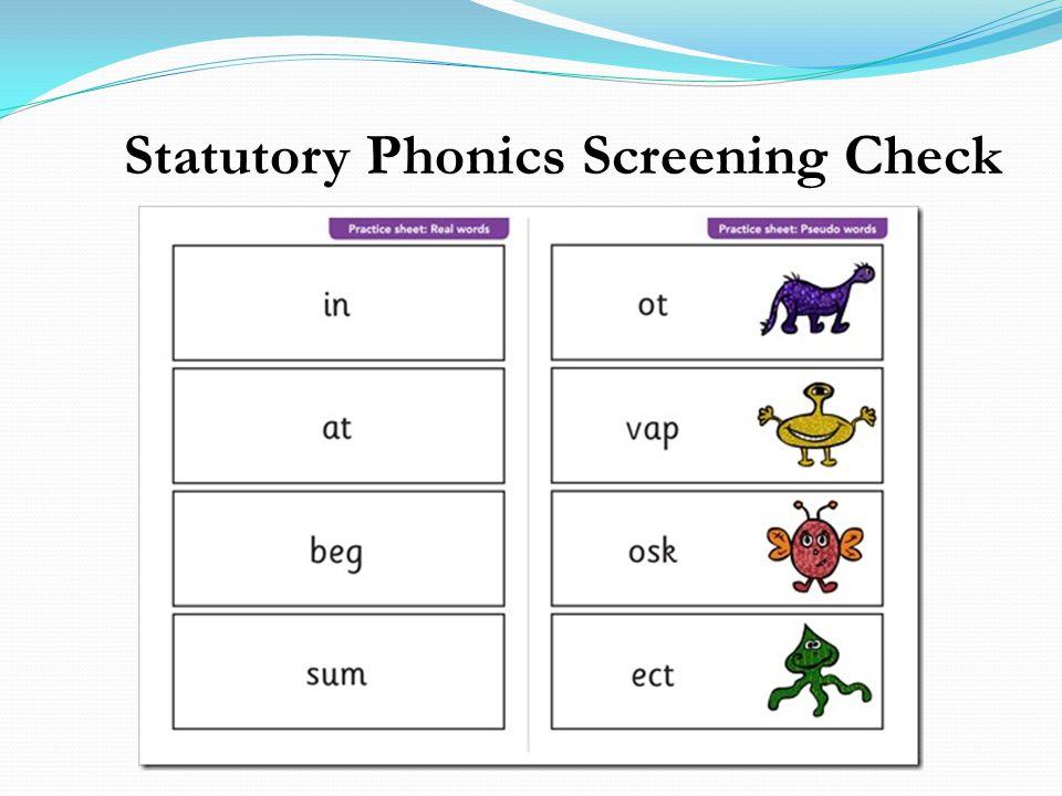 Statutory Phonics Screening Check