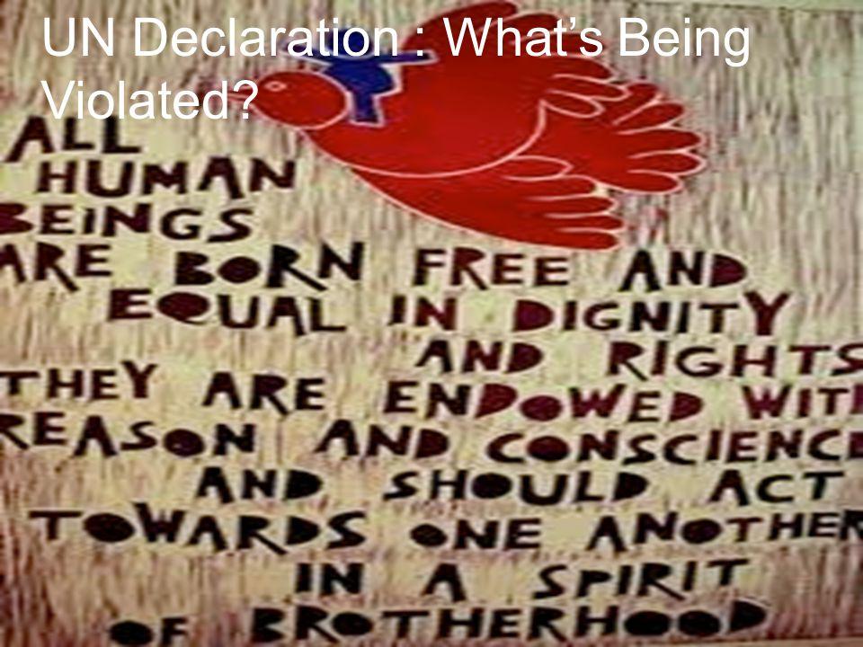 UN Declaration : What's Being Violated?
