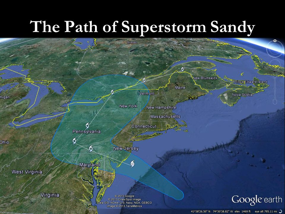 The Path of Superstorm Sandy