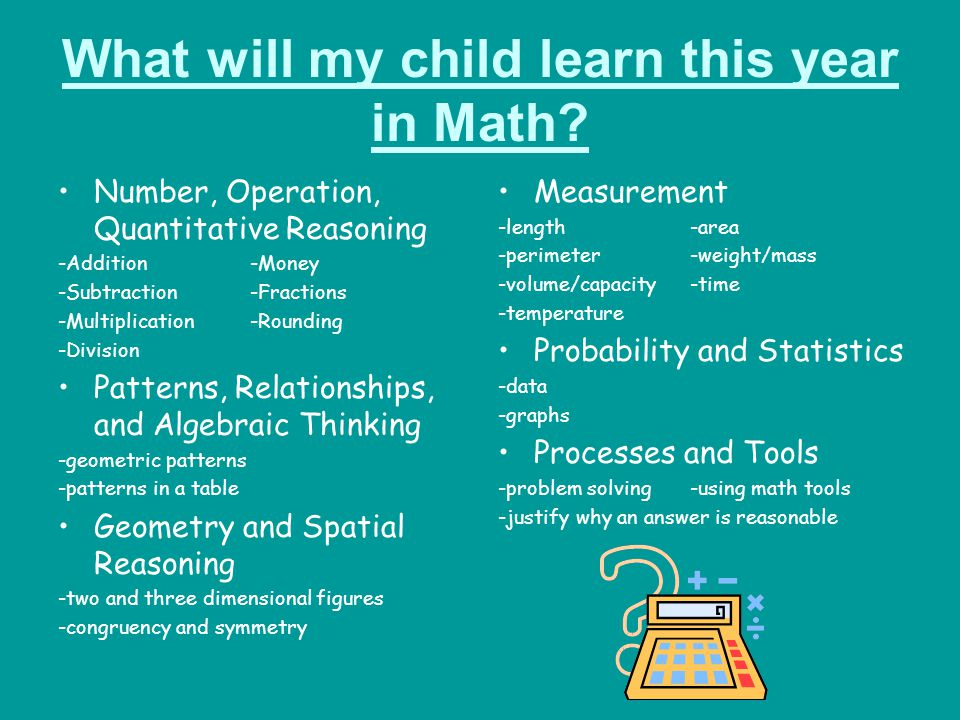 How will we learn in Math.