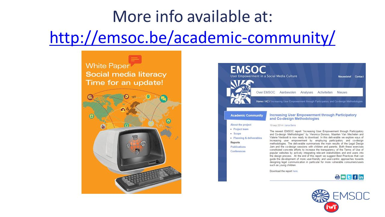 More info available at: http://emsoc.be/academic-community/ http://emsoc.be/academic-community/