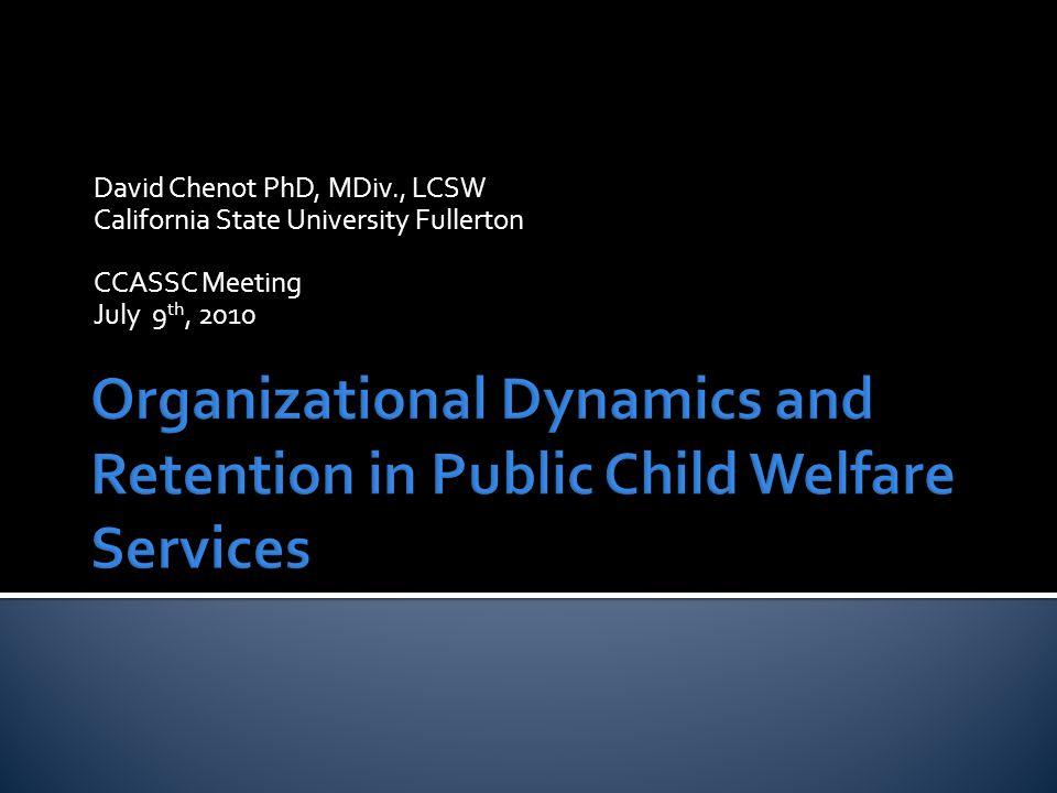 David Chenot PhD, California State University Fullerton22