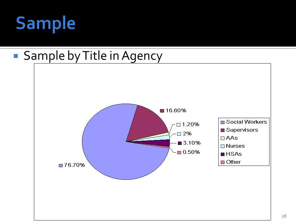  Sample by Title in Agency David Chenot PhD, California State University Fullerton16