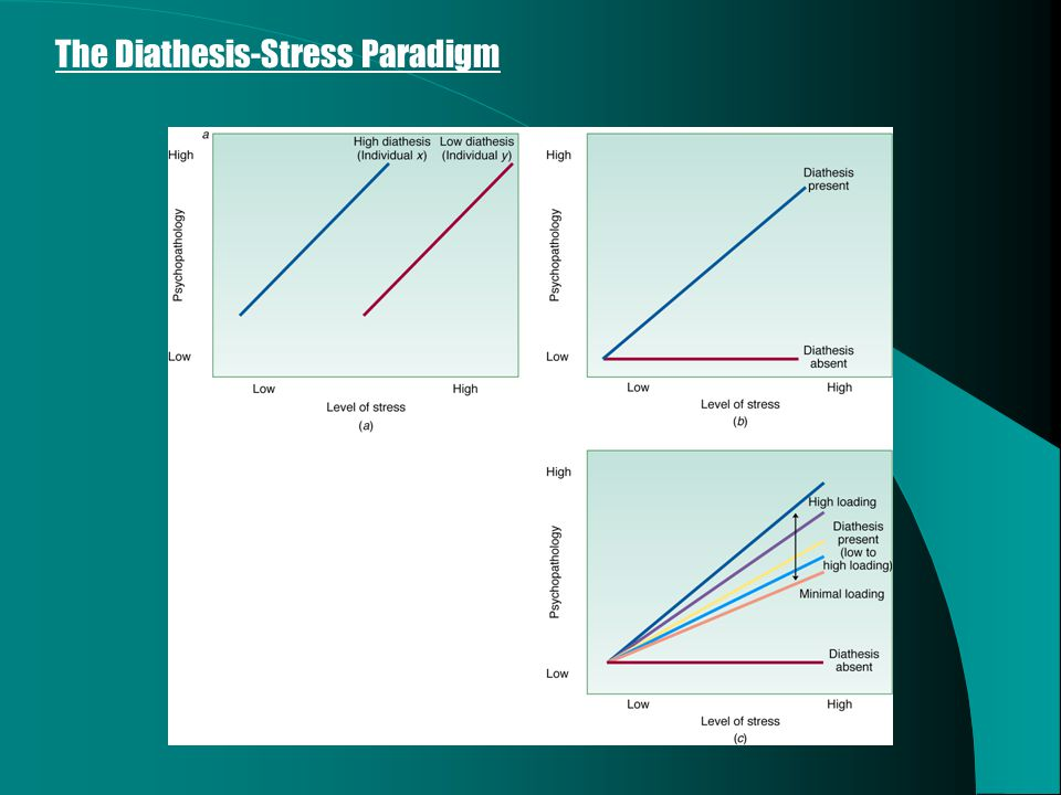 Adapted from Monroe and Simons (1991) The Diathesis-Stress Paradigm