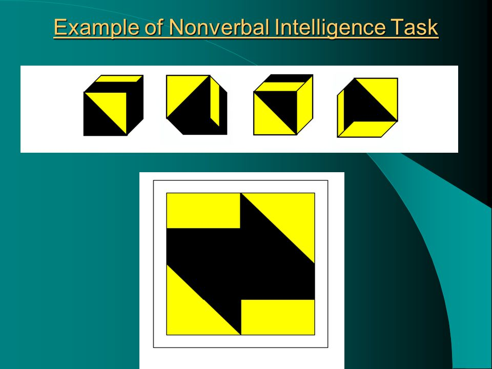 Example of Nonverbal Intelligence Task