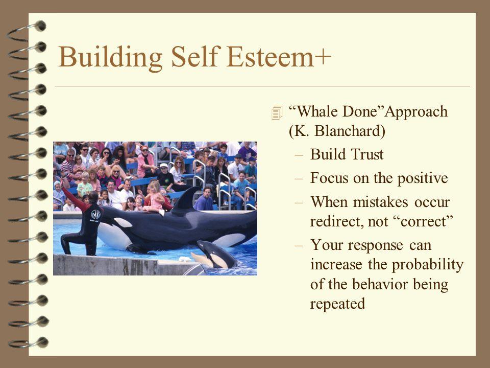 Building Self Esteem+ 4 Whale Done Approach (K.