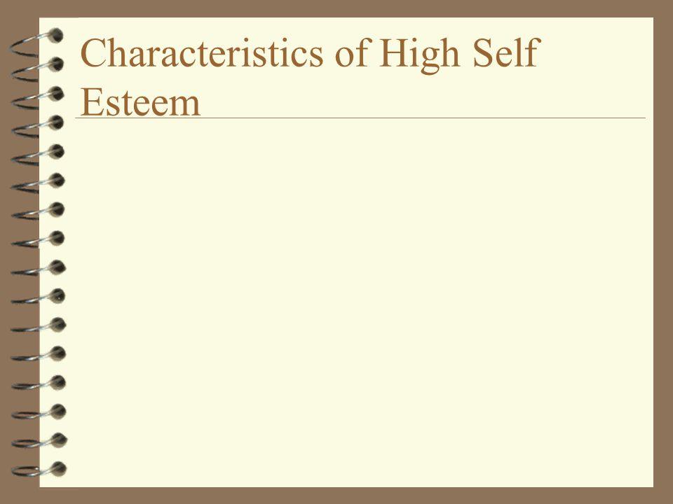 Characteristics of High Self Esteem