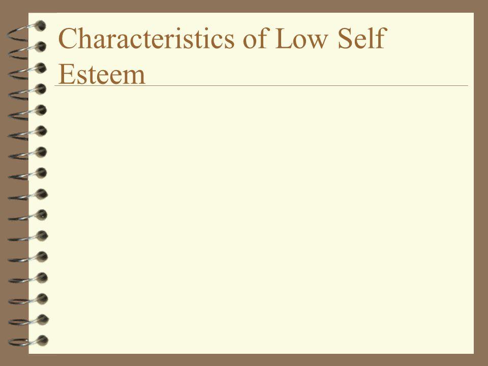 Characteristics of Low Self Esteem