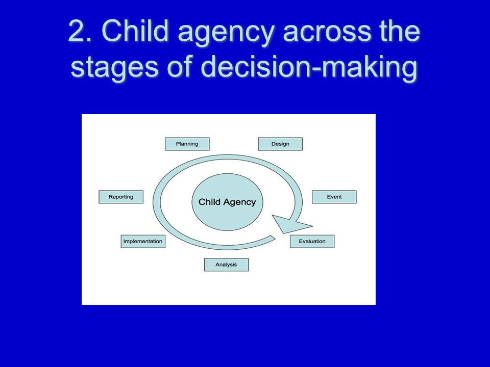 2. Child agency across the stages of decision-making