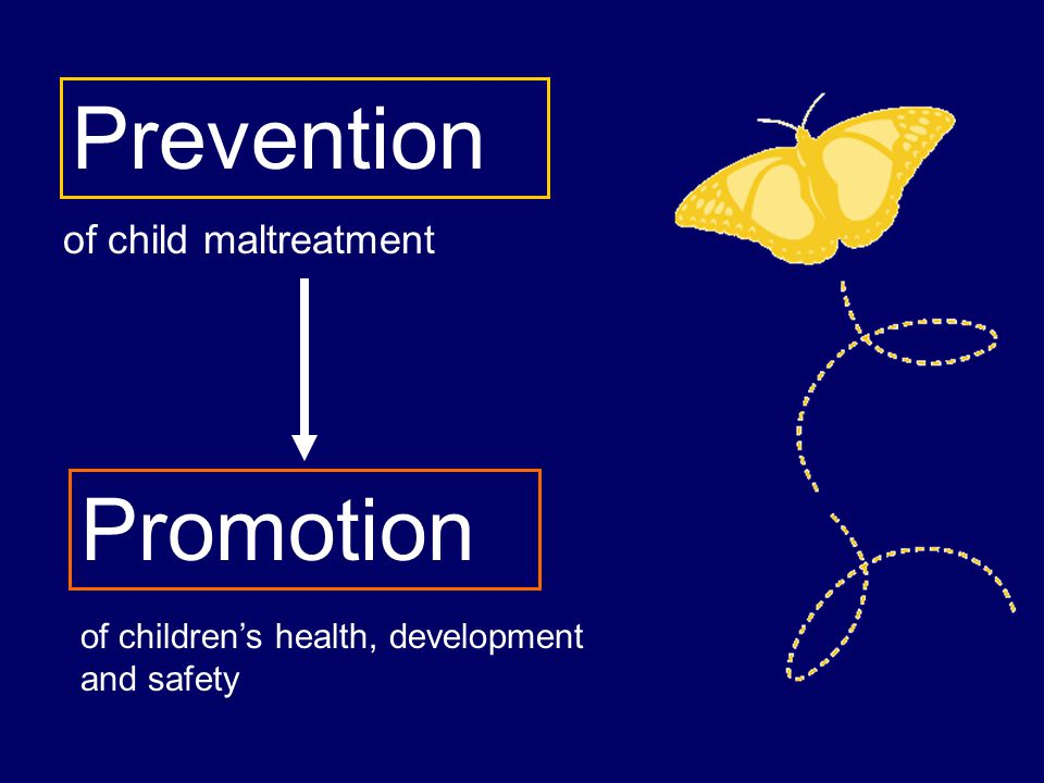 of child maltreatment Prevention Promotion of children's health, development and safety