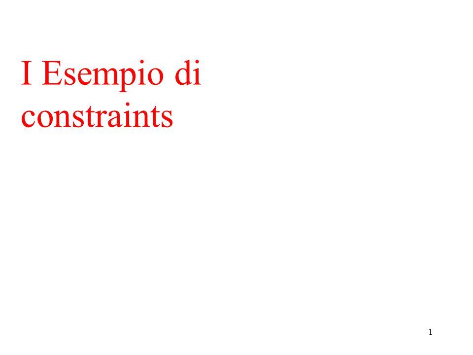 1 I Esempio di constraints