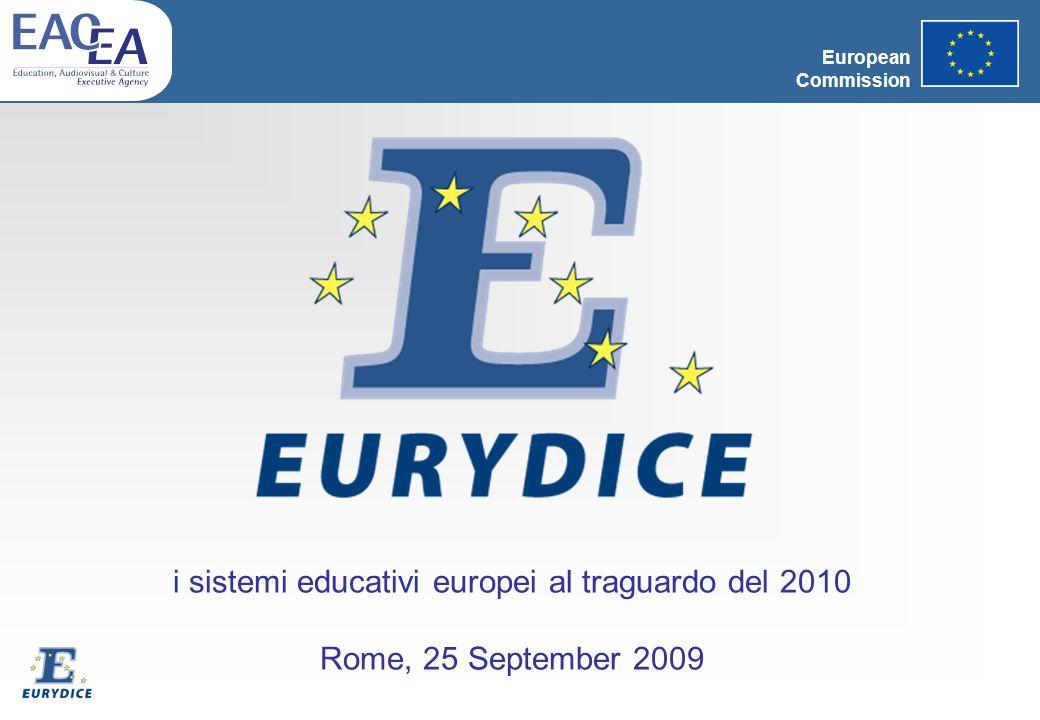 European Commission i sistemi educativi europei al traguardo del 2010 Rome, 25 September 2009