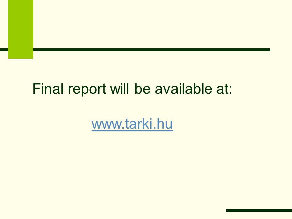 Final report will be available at: