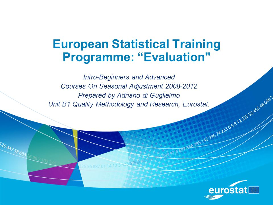 2 European Statistical Training Programme: The purpose of the European Statistical Training Programme (ESTP) is to provide European statisticians the opportunity to participate in international training courses, workshops and seminars at postgraduate level.