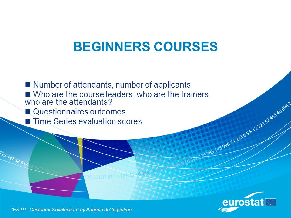 BEGINNERS COURSES Number of attendants, number of applicants Who are the course leaders, who are the trainers, who are the attendants.
