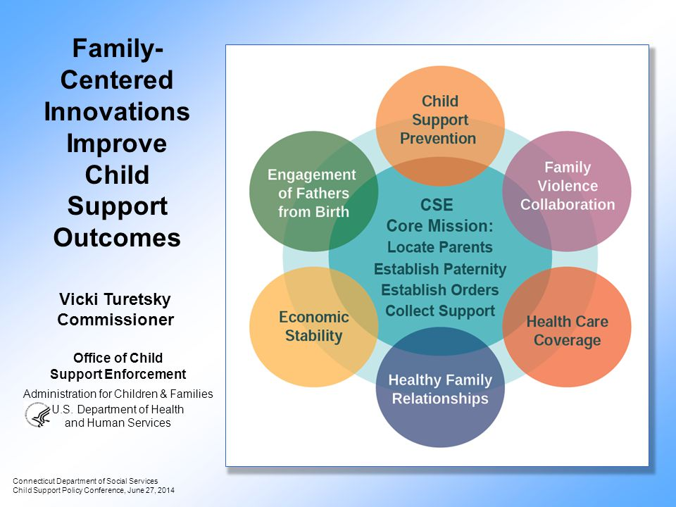 Family- Centered Innovations Improve Child Support Outcomes Connecticut Department of Social Services Child Support Policy Conference, June 27, 2014 O