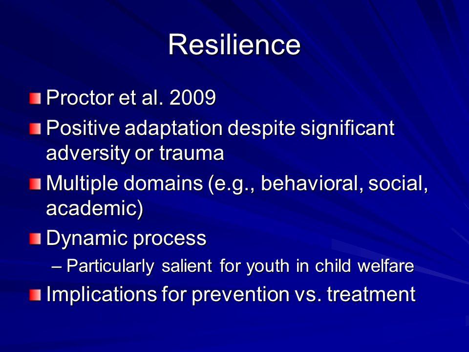 Resilience Proctor et al.