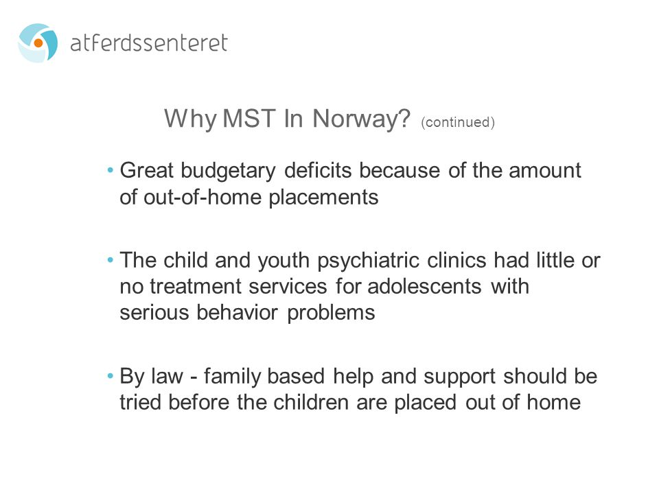 Norwegian Progaram Monitoring Results