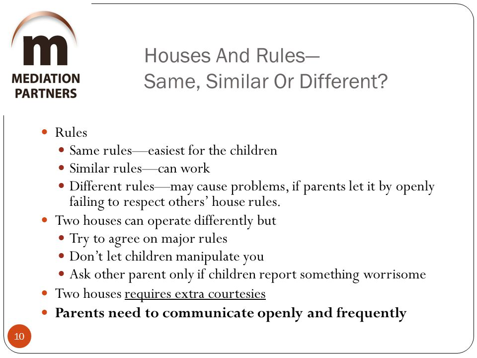 Houses And Rules— Same, Similar Or Different.