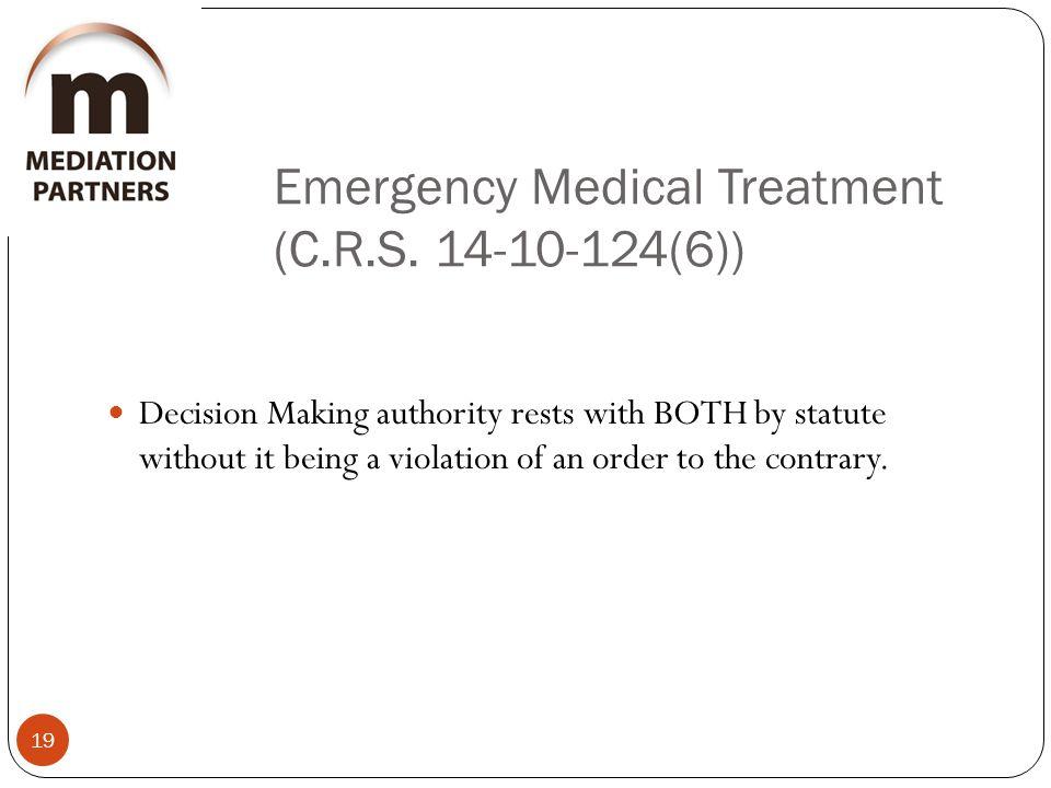 Emergency Medical Treatment (C.R.S.