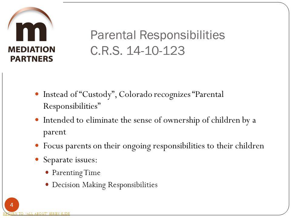 Parental Responsibilities C.R.S.