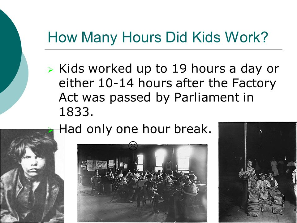 How Many Hours Did Kids Work.