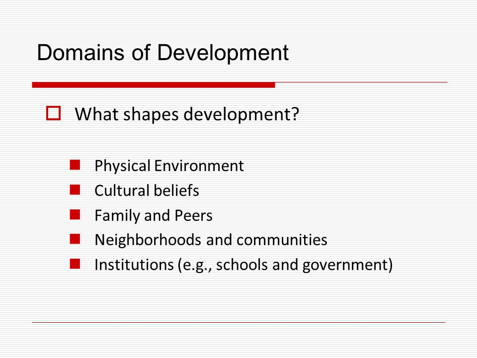 The Central Issues of Development Science  Research focuses on four fundamental issues: 1.Sources of Development (nature or nurture?) 2.Plasticity 3.Continuity/Discontinuity 4.Individual Difference (one course of development or many?)