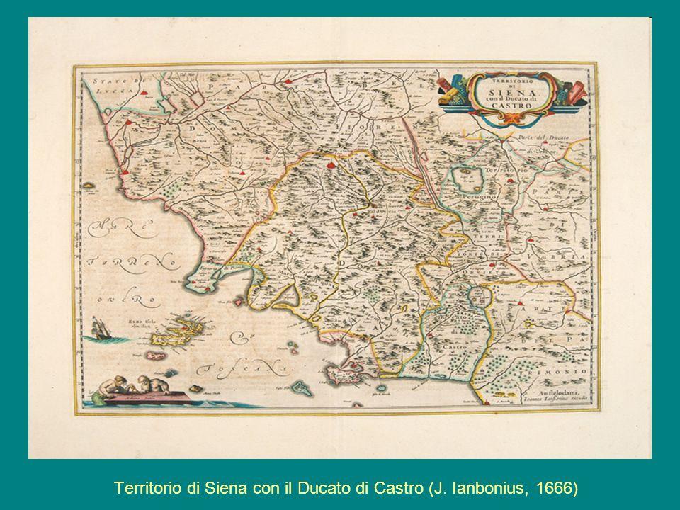 Territorio di Siena con il Ducato di Castro (J. Ianbonius, 1666)