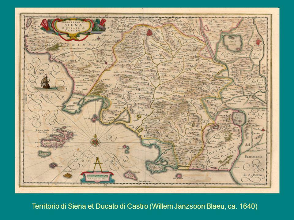 Territorio di Siena et Ducato di Castro (Willem Janzsoon Blaeu, ca. 1640)