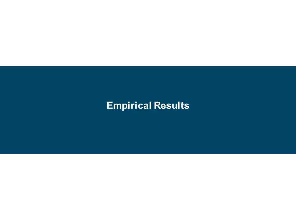 Empirical Results