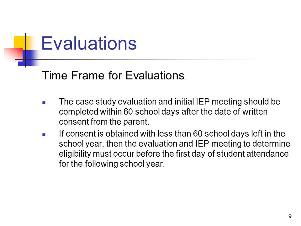 20 Individualized Education Program (IEP) IEPs for Students on the Autism Spectrum under Illinois law: Team may consider the following in developing the IEP: The verbal and nonverbal communication needs of the child The need to develop social interaction skills and proficiencies The needs resulting from the child's unusual responses to sensory experiences The needs resulting from resistance to environmental change or change in daily routines The needs resulting from engagement in repetitive activities and stereotyped movements The need for any positive behavioral interventions Other needs