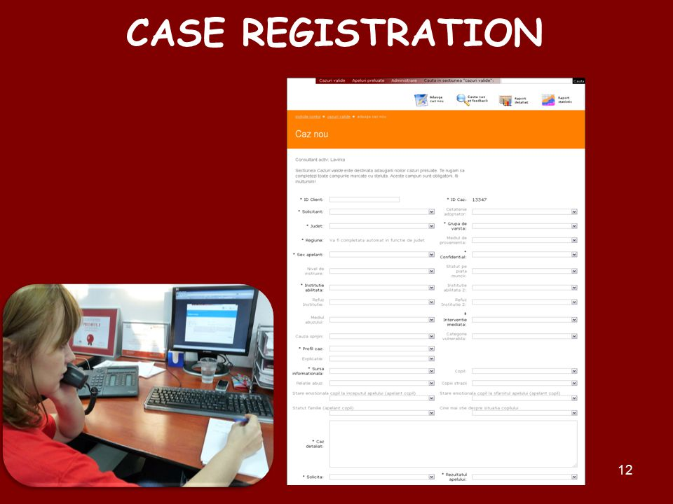 12 CASE REGISTRATION