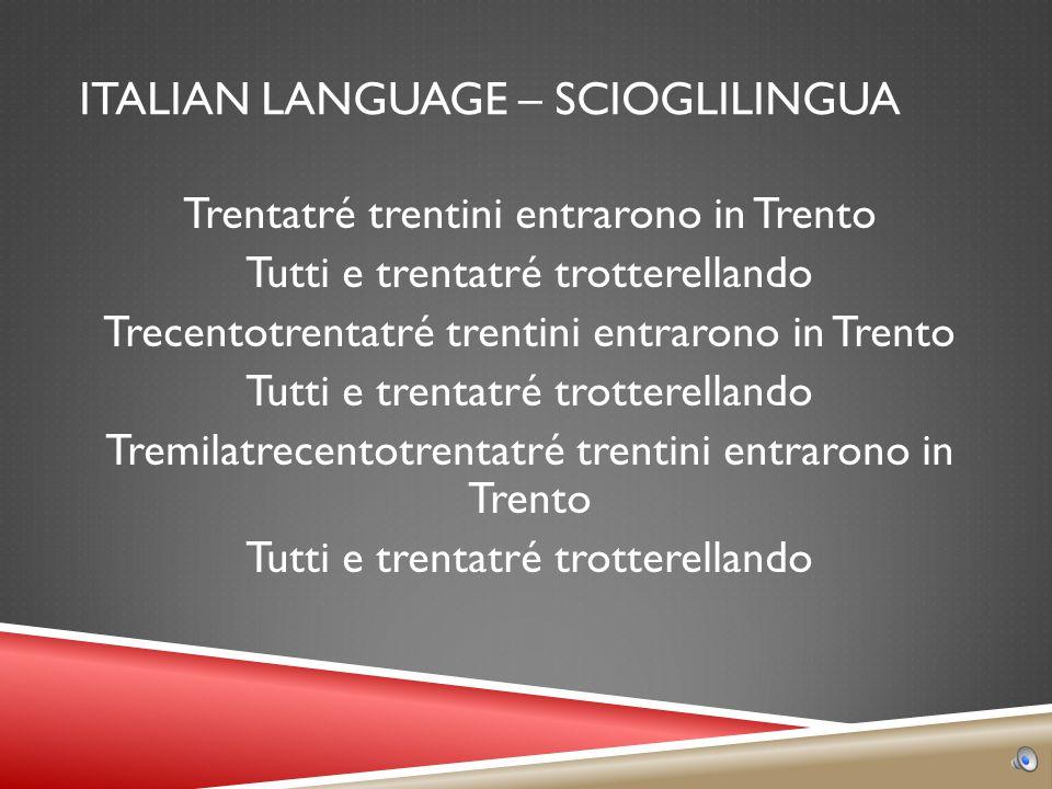 ITALIAN LANGUAGE – FAMILIAR WORDS  FANTASTICO  POSSIBILE  FRUTTA  ATTACCO  IRATO  SPIRITO  VACANZA  PARCO  AUTOMOBILE