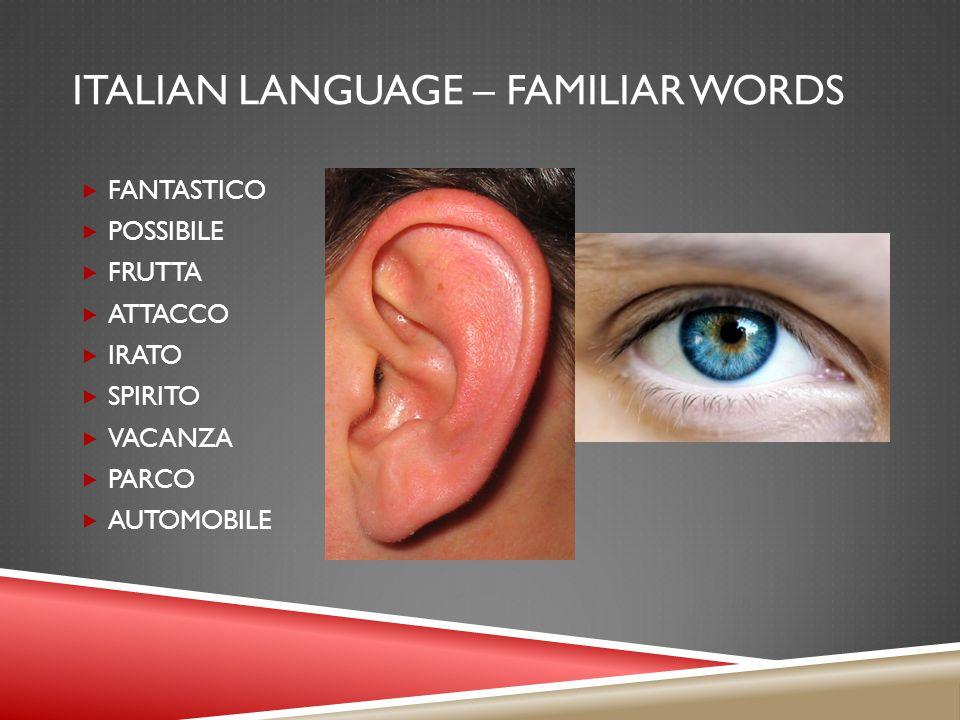 ITALIAN LANGUAGE – MUSIC INFLUENCE  BASSO  PRIMA DONNA  ALTO  CANTO  PIANO  PIÚ PIANO  PIANISSIMO