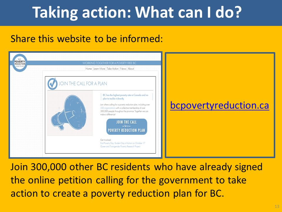 Share this website to be informed: Join 300,000 other BC residents who have already signed the online petition calling for the government to take acti