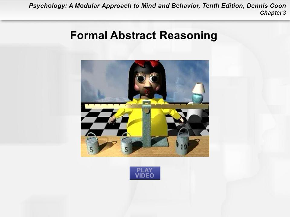 Psychology: A Modular Approach to Mind and Behavior, Tenth Edition, Dennis Coon Chapter 3 Formal Abstract Reasoning