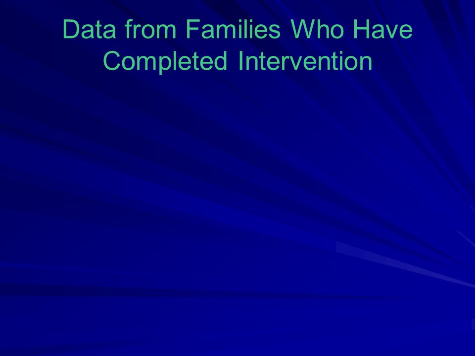 Data from Families Who Have Completed Intervention