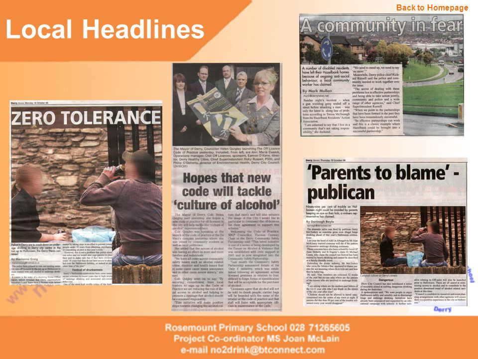 Local Headlines Back to Homepage