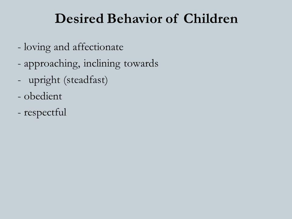 Training of children Through: 1) Tarbiyat, correct upbringing 2) Ta'dib, teaching 3) Birr, being good to them
