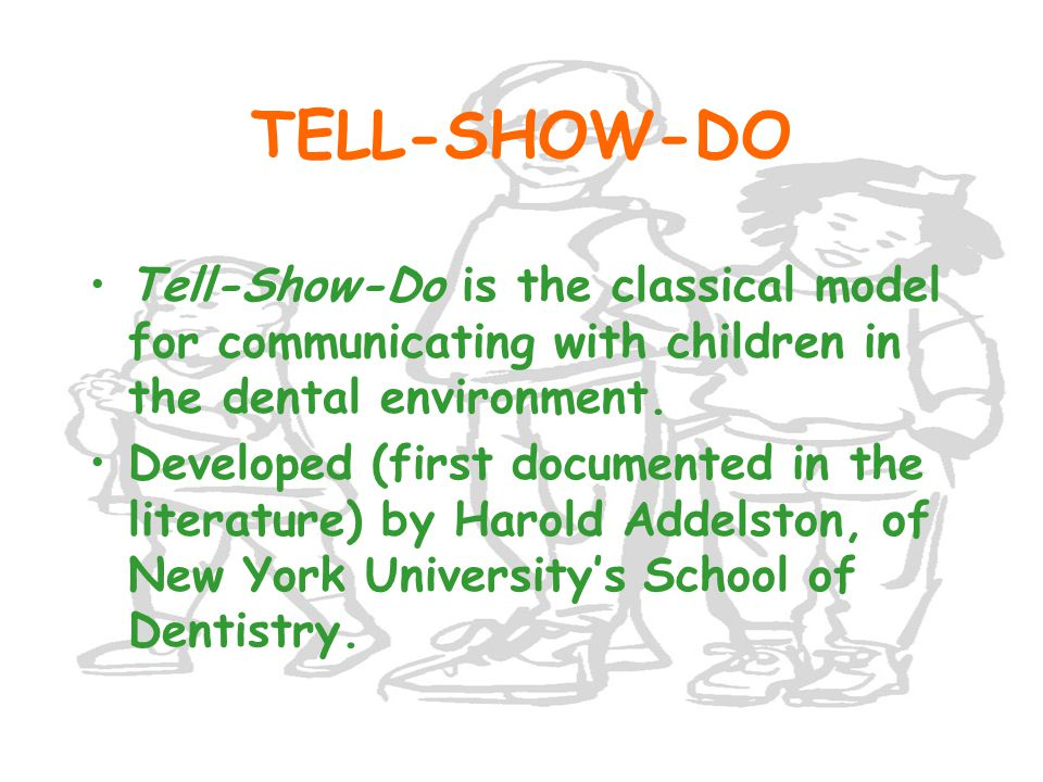 WHEN THE CHILD OWNS THE PROBLEM ENCODING PROCESS CHILD TIRED DECODING PROCESS TIRED When are you going to be finished? Child Dentist You want to get back to school. No, I didn't mean that.