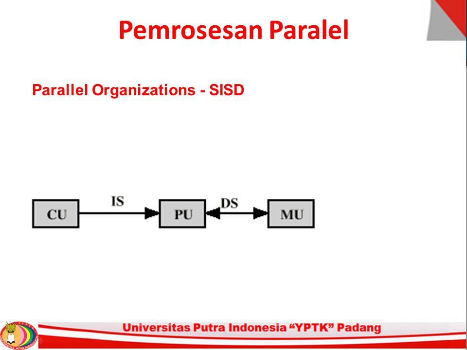 Pemrosesan Paralel Parallel Organizations - SISD