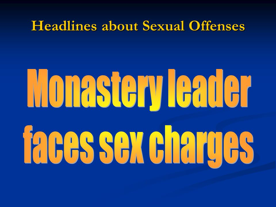 Headlines about Sexual Offenses